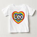 I love Leo. I love you Leo. Heart Infant T-Shirt