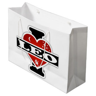I Love Leo Large Gift Bag