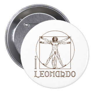 I LOVE LEONARDO DA VINCI button