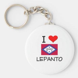 I Love LEPANTO Arkansas Basic Round Button Key Ring