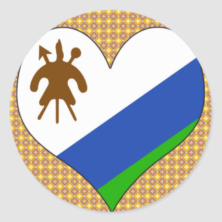 I Love Lesotho Classic Round Sticker