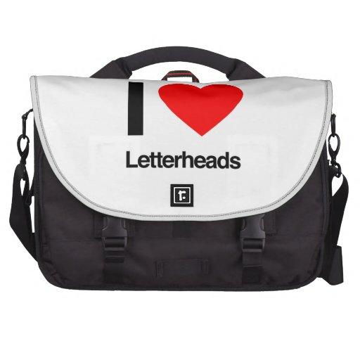 i love letterheads commuter bag