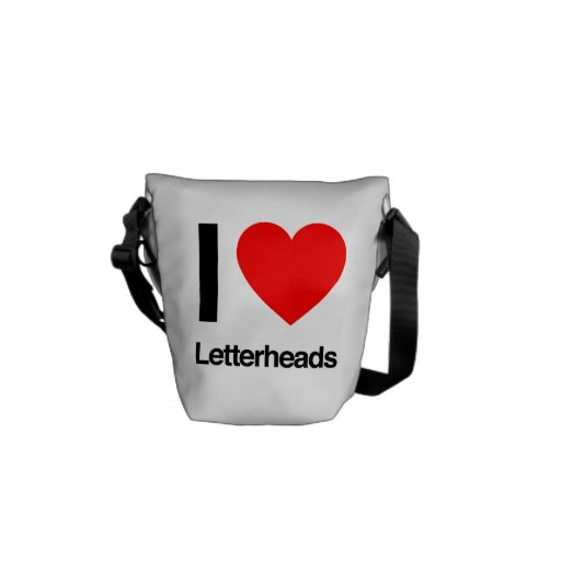 i love letterheads courier bag
