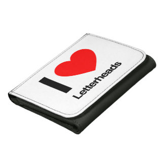i love letterheads leather trifold wallet