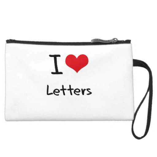 I love Letters Wristlet Clutches