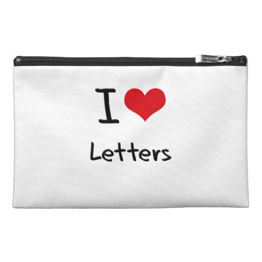 I love Letters Travel Accessories Bag