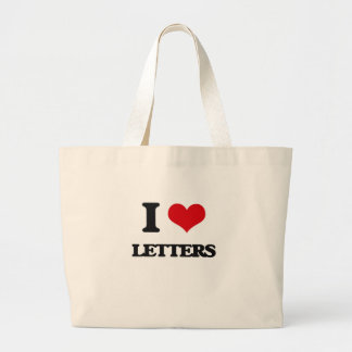 I love Letters Canvas Bag