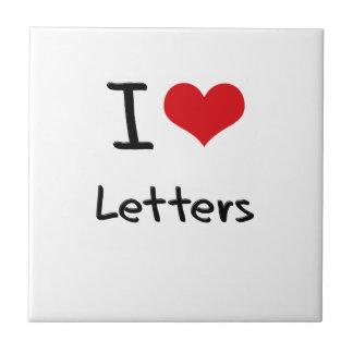 I love Letters Tiles