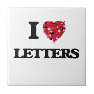 I love Letters Small Square Tile