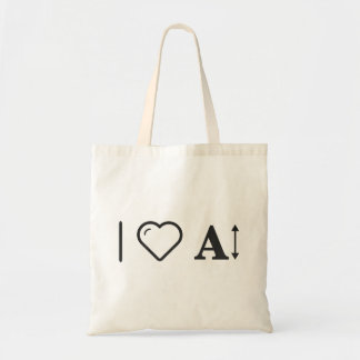 I Love Letters Budget Tote Bag