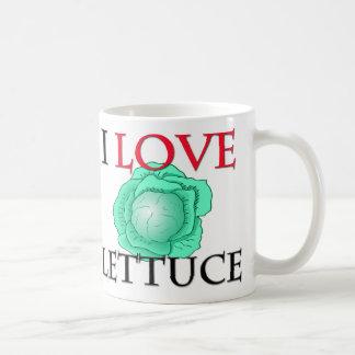 I Love Lettuce Basic White Mug