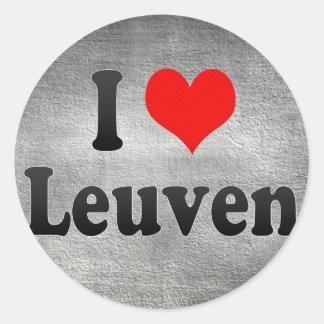 I Love Leuven, Belgium Classic Round Sticker