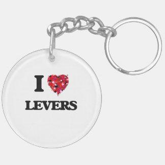 I Love Levers Double-Sided Round Acrylic Key Ring