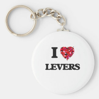 I Love Levers Basic Round Button Key Ring