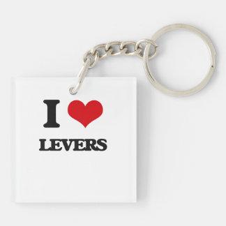 I Love Levers Square Acrylic Keychain