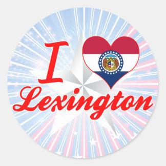 I Love Lexington, Missouri Round Sticker