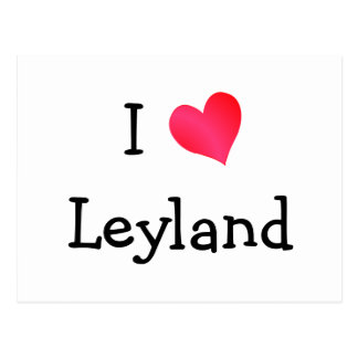 I Love Leyland Postcard
