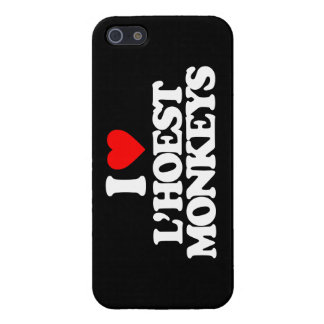 I LOVE L'HOEST MONKEYS COVERS FOR iPhone 5
