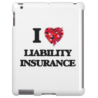 I Love Liability Insurance iPad Case