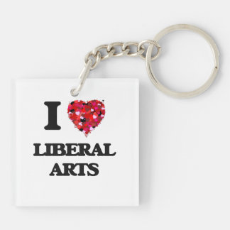 I Love Liberal Arts Double-Sided Square Acrylic Key Ring