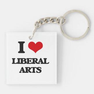 I Love Liberal Arts Square Acrylic Keychains