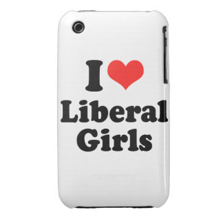 I LOVE LIBERAL GIRLS Case-Mate iPhone 3 CASES