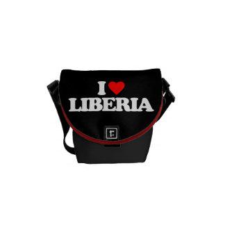 I LOVE LIBERIA COURIER BAG