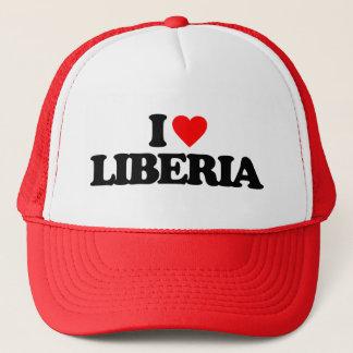 I LOVE LIBERIA TRUCKER HAT