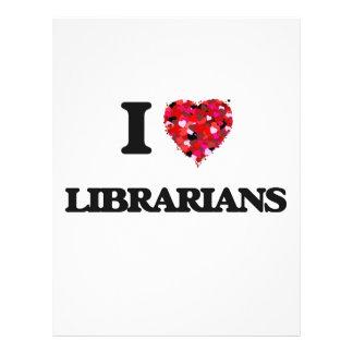 I Love Librarians 21.5 Cm X 28 Cm Flyer