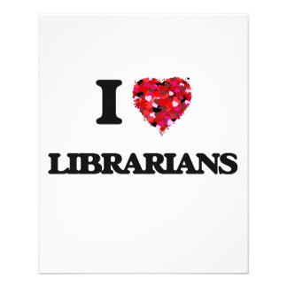 I Love Librarians 11.5 Cm X 14 Cm Flyer