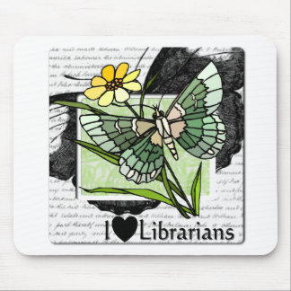 I Love Librarians Mouse Pad