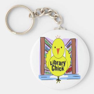 I Love Library Chicks Key Ring