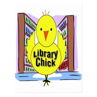 I Love Library Chicks Postcard