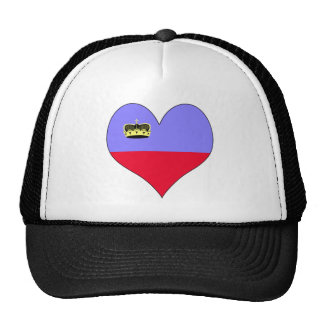 I Love Lichtenstein Trucker Hats