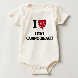 I love Lido Casino Beach Florida Baby Bodysuit
