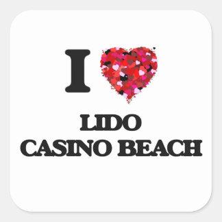 I love Lido Casino Beach Florida Square Sticker