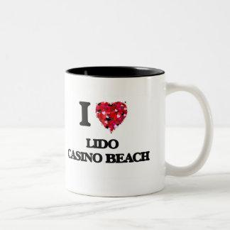 I love Lido Casino Beach Florida Two-Tone Mug