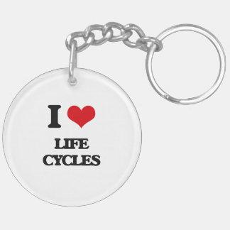 I Love Life Cycles Acrylic Keychains