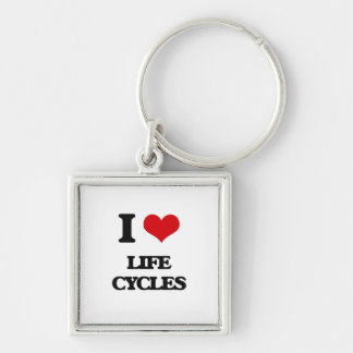 I Love Life Cycles Keychains