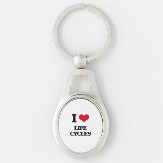 I Love Life Cycles Keychain