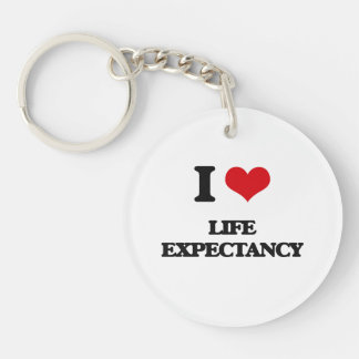 I Love Life Expectancy Key Chains