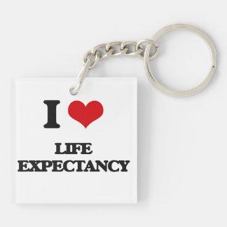 I Love Life Expectancy Acrylic Key Chains