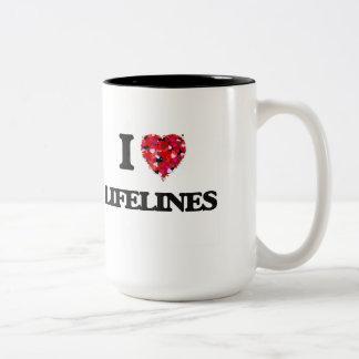 I Love Lifelines Two-Tone Mug