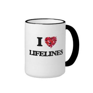 I Love Lifelines Ringer Mug