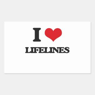 I Love Lifelines Rectangular Sticker