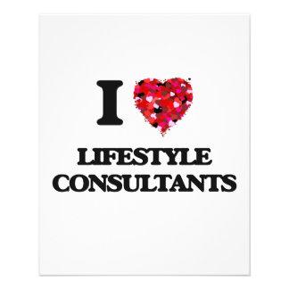 "I love Lifestyle Consultants 4.5"" X 5.6"" Flyer"