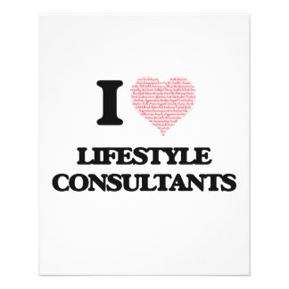 I love Lifestyle Consultants (Heart made from word 11.5 Cm X 14 Cm Flyer