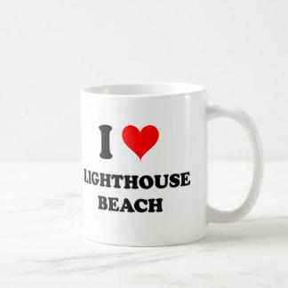 I Love Lighthouse Beach California Mugs