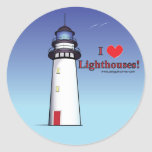 I Love Lighthouses! Round Sticker