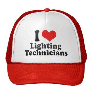 I Love Lighting Technicians Hats